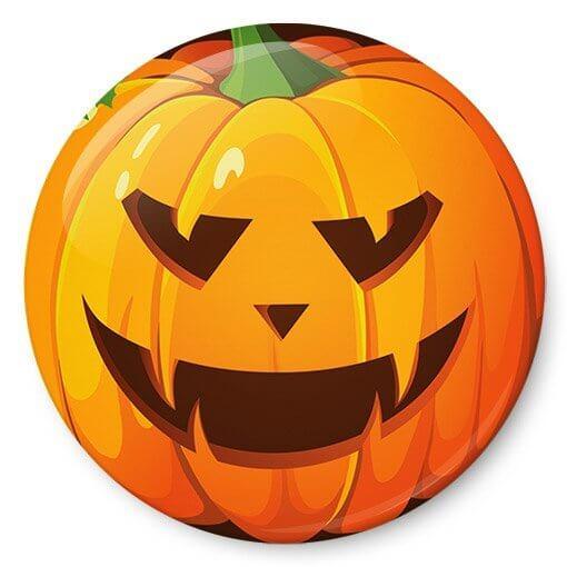 Chapas de calabaza de Halloween