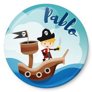 Chapa identificativa Pirata niño