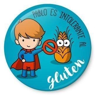 Chapa de niño intolerante al gluten