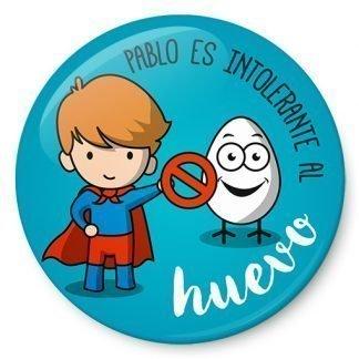 Chapa de Niño intolerante al huevo