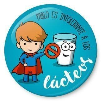Chapa de niño intolerante a los lácteos