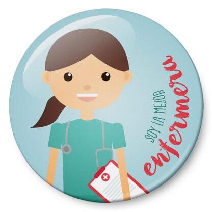 Chapas Profesiones Soy la mejor enfermera