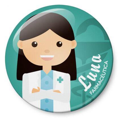 Chapas Profesiones Farmacéutica
