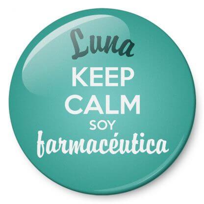Chapas Profesiones Keep calm soy farmacéutica